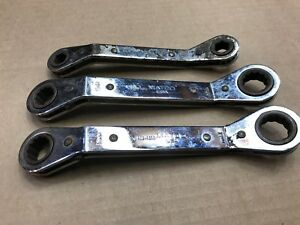 Matco Ratcheting Box Wrench Offset Metric 3 Pieces Wrdm 1618 1517 1112