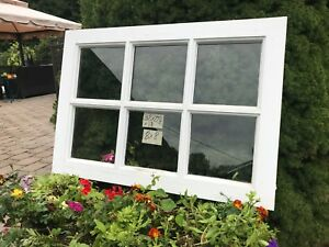 32 X 23 Vintage Window Sash Old Door Top 6 Pane From 1960s