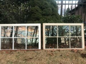 2 36 X 23 Matching Vintage Window Sash Old 6 Pane From 1970s Arts