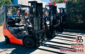 20 Refurbished 2016 Toyota 8fgcu25 30 Lpg Forklifts 3 Stage 5k 6k Capacity
