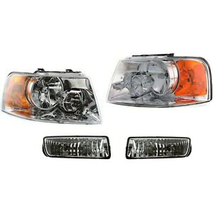 Auto Light Kit For 2003 Ford Expedition Left And Right Side Chrome Interior
