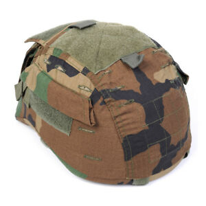 Emerson Tactical MICH 2001 ACH Helmet Cover with Pouch Military Airsoft Woodland