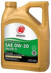 Idemitsu Full Synthetic 0w 20 Engine Oil Sn Gf 5 5 Quart 1 Day Ferr Shipping