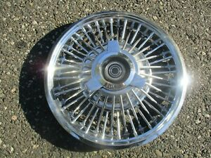 One 1967 Mercury Cougar Comet 14 Inch Wire Spoke Spinner Hubcap Wheel Cover