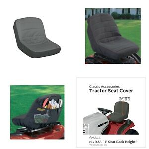 Small Seat Cover For Lawn Tractor Mower John Deere Mtd Cub Cadet Without Armrest