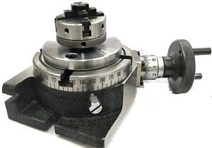 Horizontal Vertical Milling Indexing 4 100 Rotary Table Small Chuck 50mm 4jaw