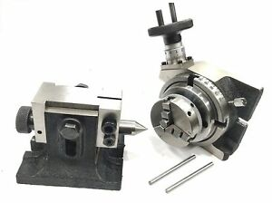 Horizontal Vertical Milling Indexing 4 100 Rotary Table tailstock 65 Mm 3jaw