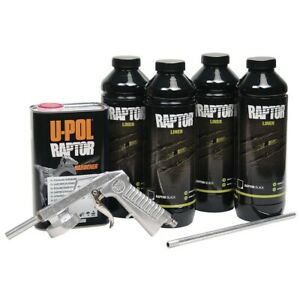 U Pol Raptor Truck Black Bed Liner Kit With Applicator Gun Upol Me 820