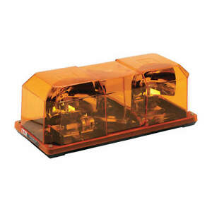 Federal Signal 452142 02 Mini Lightbar Rotator Amber 15 4 5 In
