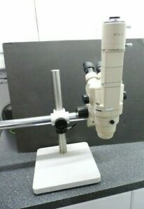 Olympus Sz6045 Trinocular Stereo Zoom Microscope Sz pt Photo Tube On Boom Stand