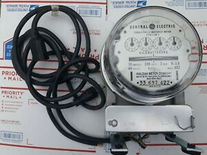 Vintage Ge Single Phase Watthour Electricity Meter I 50 a Model Ar2
