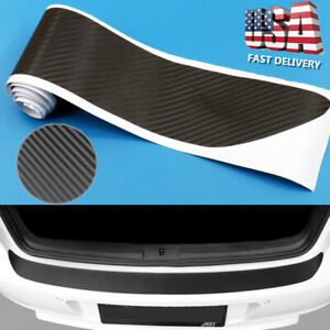 Car Auto 4d Carbon Fiber Plate Sticker Sill Scuff Cover Trunk Protection Strip