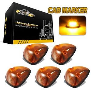 5pc Amber Cab Marker Light Assembly W 16 3528 smd Yellow Led For 94 98 Dodge Ram
