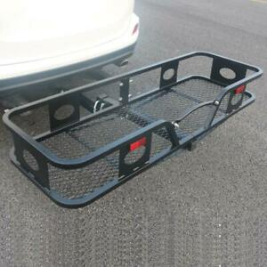 500 Lbs Folding Hitch Mounted Cargo Carrier Basket Luggage Rack Car Suv Truck Us