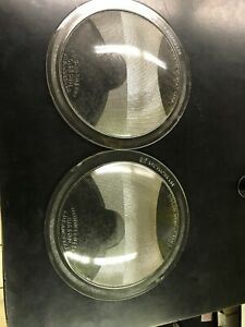 Vintage Early Pair Of Gibson Newest Lens Headlight Lenses By Union Lens Co 8 1 4