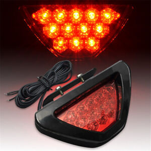 Universal Car F1 Style 12led Red Rear Tail Third Brake Stop Safety Lamp Light
