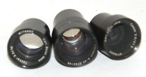 Carl Zeiss Jena Three Lenses Tessar 3 5 70mm 3 5 37 5mm And Visiogon 2 28mm