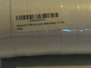 Labels For Monarch 1136 Price Gun White 8 Rolls made In Usa