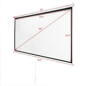 84 Diagonal 16 9 Projection Projector Screen Hd Manual Pull Down Meeting Room
