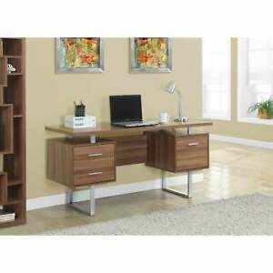 Walnut Hollow Core Silver Metal 60 inch Office Desk