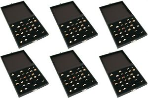 6 Ring Black Wide Tray Cases W 36 Slots