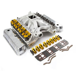Fits Ford 351w Windsor Solid Ft Cnc Cylinder Head Top End Engine Combo Kit