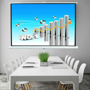 100 4 3 Hd Projector Projection Screen Adjustable Height Tripod Stand