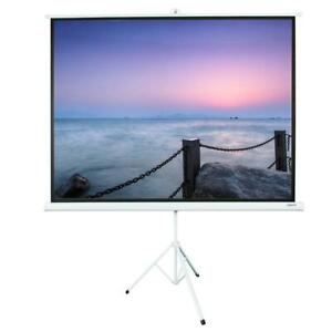 100 Ratio 4 3 Projection Projector Screen Manual Pull Up Stand Tripod