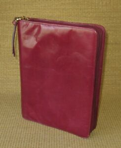 Classic 1 125 Rings Red Unstructured Leather Franklin Covey Planner binder