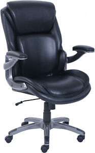 Serta 3 d Active Back Office Managers Chair Leather Memory Foam Seat