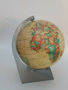Vintage Scan Globe With Smoked Lucite Stand Denmark