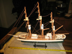 Free Ship 24 Handmade Sailing Ship Clipper Yacht Wood Model Boat Coast Guard