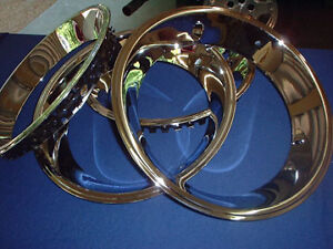 Chevelle Camaro Nova Rally Wheel Trim Rings 14 X 2 1 4 New