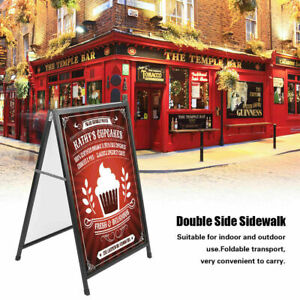 A frame Double side Poster Sign Sidewalk Message Board Foldable Indoor Outdoor