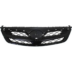 Grille For 2011 2013 Toyota Corolla Black Plastic