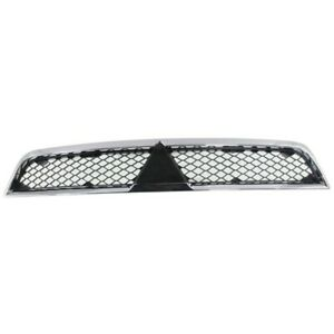 Grille For 2008 2012 2014 2015 Mitsubishi Lancer Chrome Shell W Black Insert