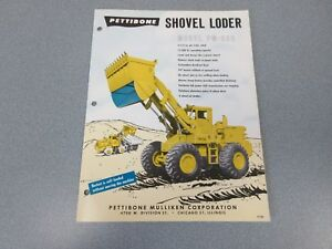 Rare Pettibone Pm 550 Shovel Loder loader Sales Brochure