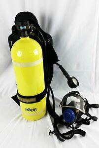 Drager Tc 3alm 4500 Psi Air Tank Respirator Mask New Harness Mount
