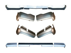 Front Rear 3 Piece Chrome Bumpers Valance Pans For 1961 Chevy Passenger Car