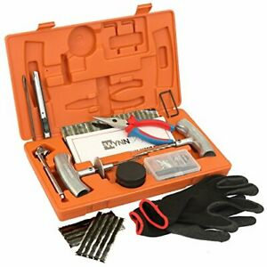 Tire Repair Tools Kit 61 Pieces Truck Jeep Motorcycle Atv Tractor Heavy Duty