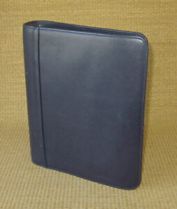 Classic 1 5 Rings Blue Flex Leather Franklin Covey Open Planner binder