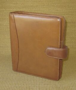 Classic 1 5 Rings Brown Leather Franklin Covey quest Open Planner binder Usa