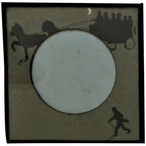 19th C Silhouette Picture Frame For Miniature Portrait 3 Opening Victorian