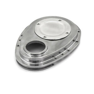 Chevy Sbc 350 2 Piece Polished Aluminum Timing Chain Cover W Inspection Plate