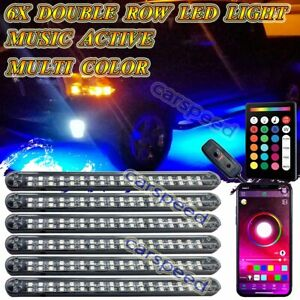 Full Color Led Rock Light Under Car Underglow Underbody Neon Bar Music Control