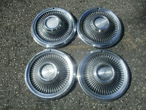 Factory 1969 Ford Thunderbird 15 Inch Hubcaps Wheel Covers Set