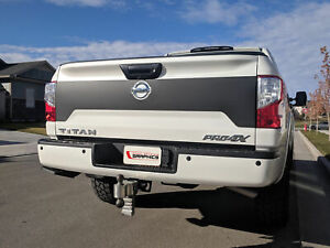Tailgate Blackout Decal For 2016 2017 2018 2019 Nissan Titan Vinyl Sticker Rear