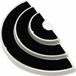 New 36 Slot 3 Tier Black white Ring Display Foam Jewelry Stand X5