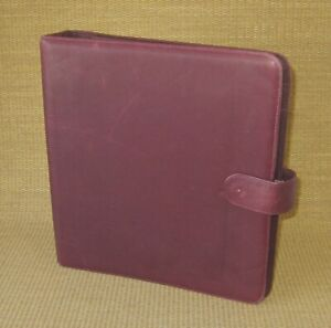 Folio 1 25 Rings Burgundy Leather At a glance Planner binder Franklin Monarch