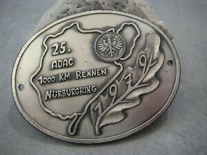 Vintage German Adac 1000 Kilometers Race N rburgring Automobile Car Club Badge